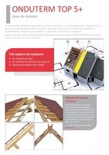Termoizolatie cu structura multistrat pentru acoperisuri ONDUVILLA