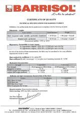 Certificat de calitate BARRISOL