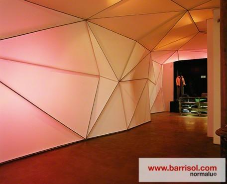 Lucrari de referinta Finisarea unui perete modular cu Barrisol Lumiere BARRISOL - Poza 1