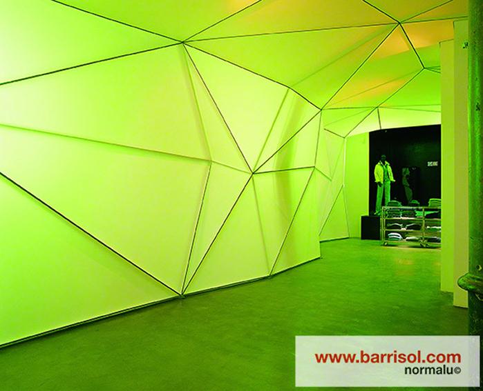 Finisarea unui perete modular cu Barrisol Lumiere BARRISOL - Poza 2