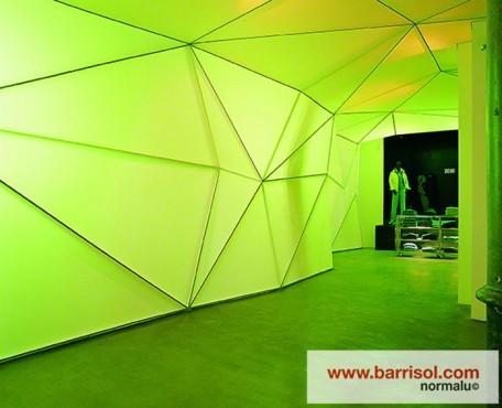 Lucrari de referinta Finisarea unui perete modular cu Barrisol Lumiere BARRISOL - Poza 2