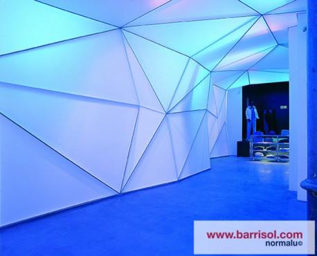 Lucrari de referinta Finisarea unui perete modular cu Barrisol Lumiere BARRISOL - Poza 3