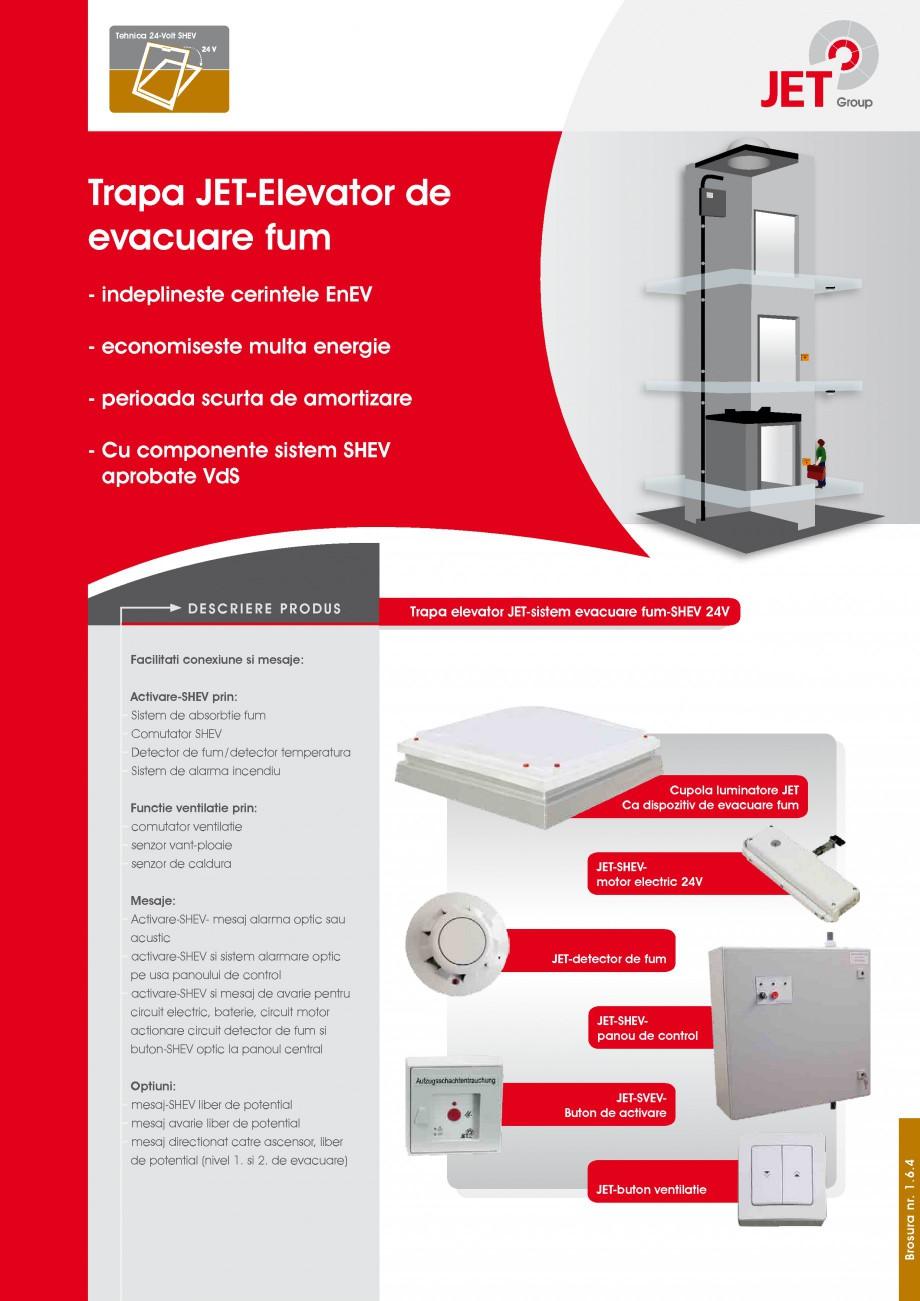 Pagina 1 - Trapa de fum pentru casa liftului JET GROUP JET 24V Elevator Fisa tehnica Romana Tehnica ...