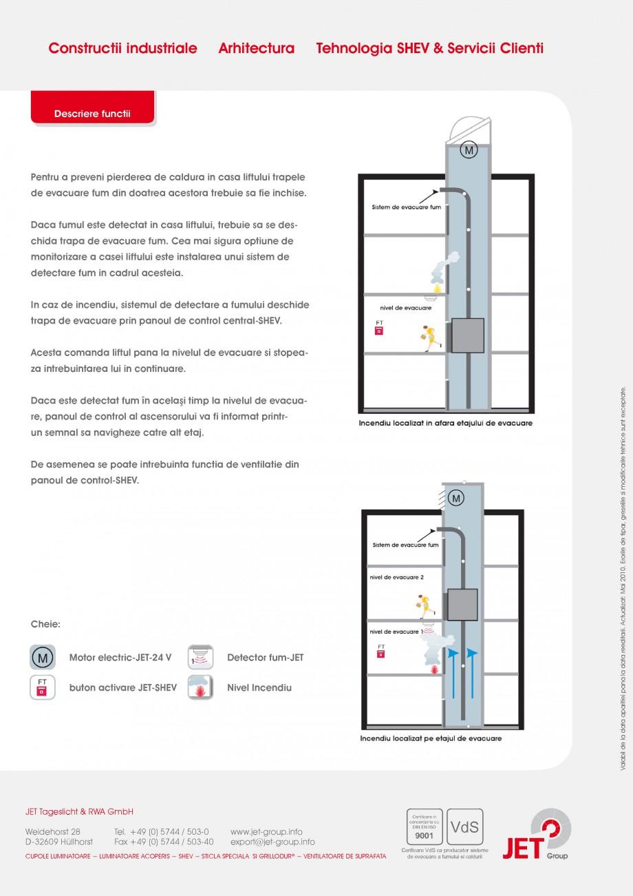 Pagina 2 - Trapa de fum pentru casa liftului JET GROUP JET 24V Elevator Fisa tehnica Romana m ...