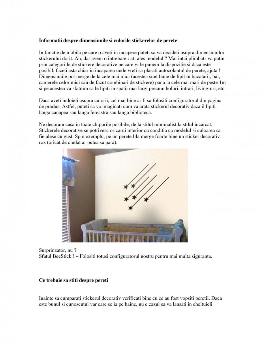 Pagina 2 - Cand si cum sa alegeti stickerele decorative Beestick Catalog, brosura Romana d va...