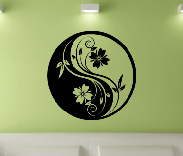 Stickere, folii decorative / Floare circulara Yin si Yang