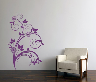 Stickere, folii decorative / Floare pe perete