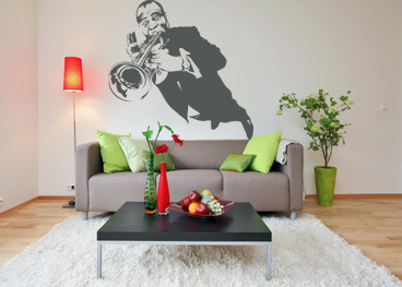 Stickere, folii decorative / Louis Armstrong