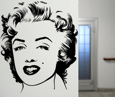 Stickere, folii decorative / Portret Marilyn Monroe
