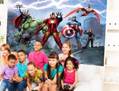 Fototapet camere de copii - Format Mare (360x254) / Fototapet Avengers