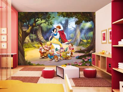 Fototapet camere de copii - Format Mare (360x254) / Fototapet cu Alba ca Zapada si cei Sapte