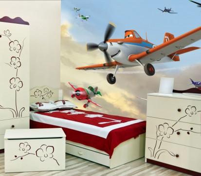 Fototapet camere de copii - Format Mare (360x254) / Fototapet cu avioane