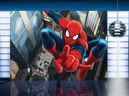 Fototapet camere de copii - Format Mare (360x254) / Fototapet cu Spiderman Big