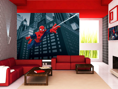 Fototapet camere de copii - Format Mare (360x254) / Fototapet cu Spiderman