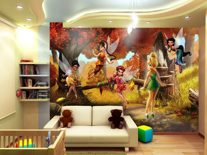 Fototapet camere de copii - Format Mare (360x254) / Fototapet cu Zâne