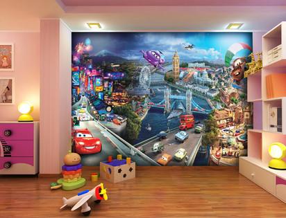 Fototapet camere de copii - Format Mare (360x254) / Fototapet Indragitele personaje din Cars