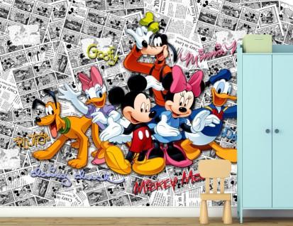 Fototapet camere de copii - Format Mare (360x254) / Fototapet Mickey si prietenii lui