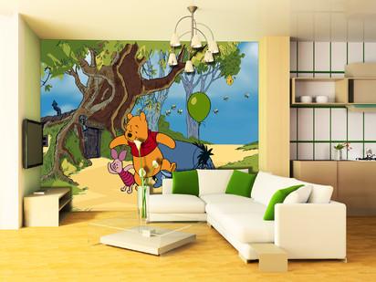 Fototapet camere de copii - Format Mare (360x254) / Fototapet Winnie the pooh