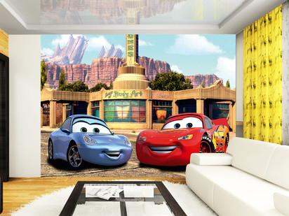 Fototapet camere de copii - Format Mare (360x254) / Fulger McQueen si Sally