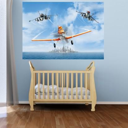Fototapet camere de copii - Format Mediu (255x180) / Fototapet cu Avioane