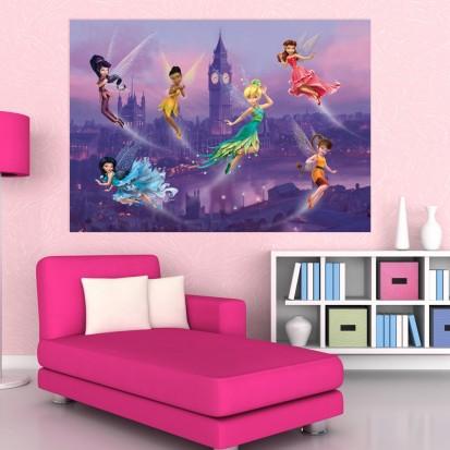 Fototapet camere de copii - Format Mediu (255x180) / Fototapet cu Zâne deasupra Londrei
