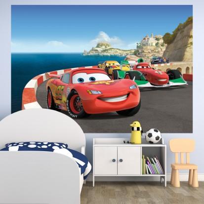 Fototapet camere de copii - Format Mediu (255x180) / Fototapet Cursa Cars