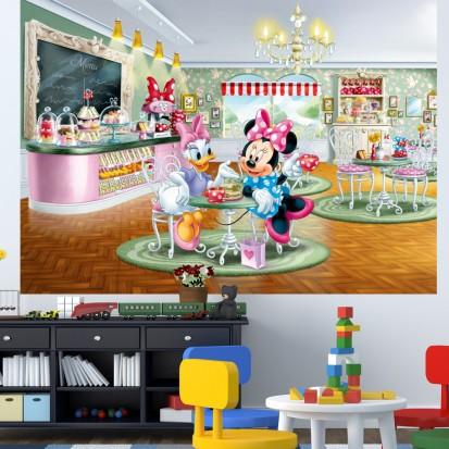Fototapet camere de copii - Format Mediu (255x180) / Fototapet Minnie si Daisy