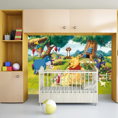Fototapet camere de copii - Format Mediu (255x180) / Fototapet Winnie the pooh