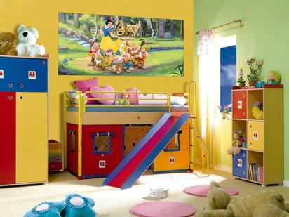 Fototapet camere de copii - Format Small (202x90) / Fototapet Alba ca Zapada