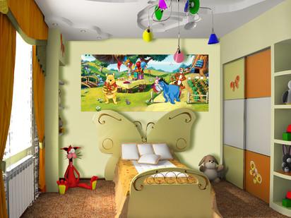 Fototapet camere de copii - Format Small (202x90) / Fototapet cu Winnie Pooh
