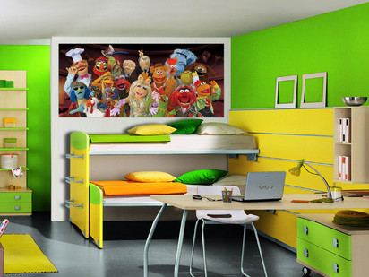 Fototapet camere de copii - Format Small (202x90) / Fototapet Muppets Show