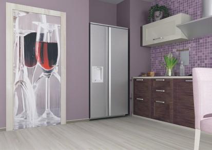 Fototapet pentru usi (90x202 cm) / Fototapet pentru usa Pahar de vin