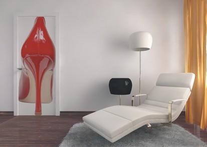 Fototapet pentru usi (90x202 cm) / Fototapet pentru usa Pantoful rosu