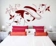 Stickere si folii decorative pentru decorarea peretilor sau vitrinelor