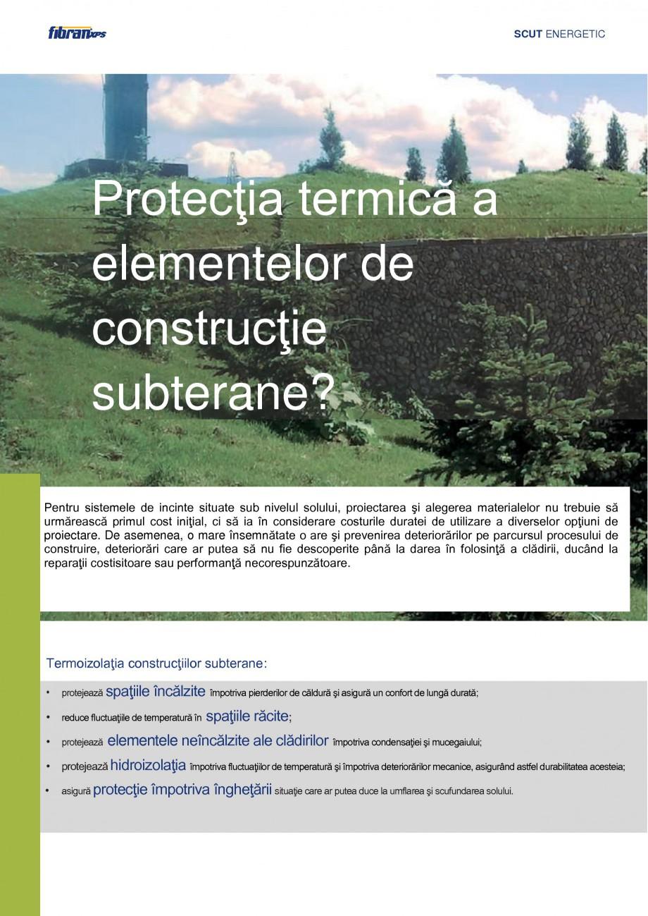 Pagina 3 - Izolarea termica a constructiilor subterane FIBRANxps 300-L, 400-L, 500-L, 600-L, 700-L, ...