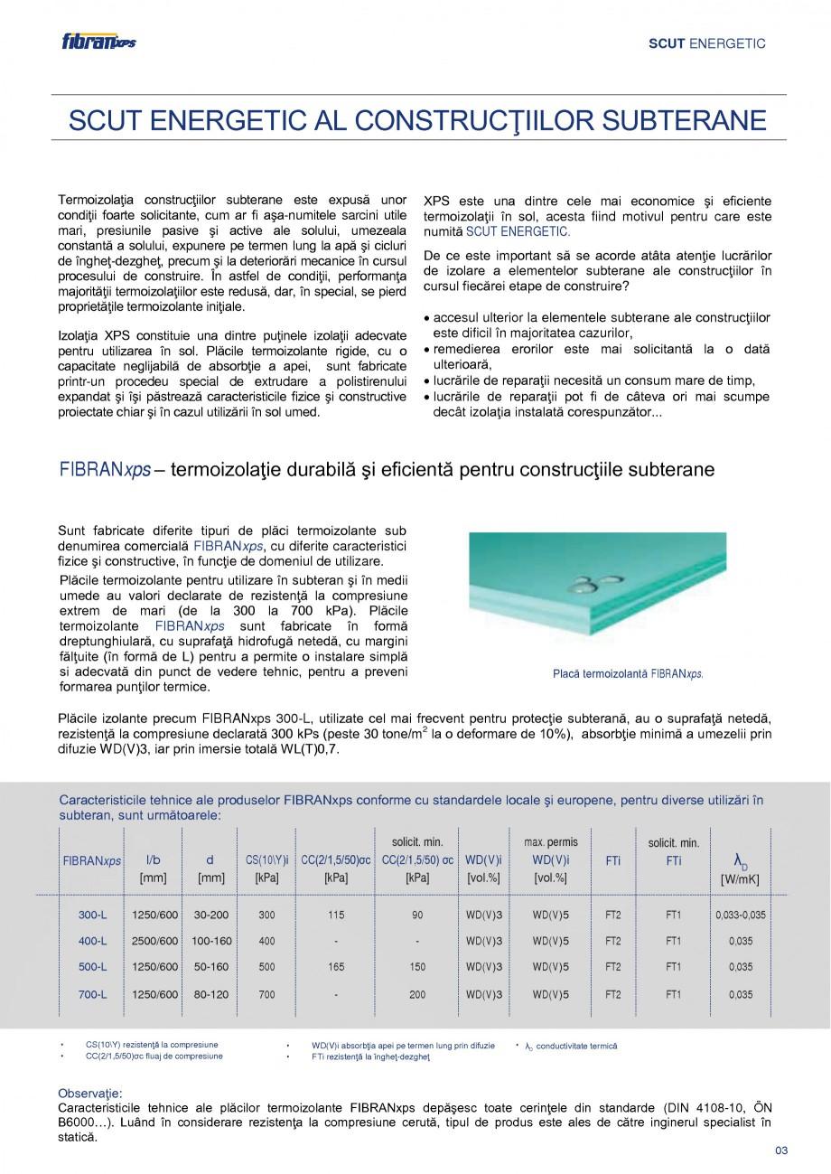 Pagina 6 - Izolarea termica a constructiilor subterane FIBRANxps 300-L, 400-L, 500-L, 600-L, 700-L, ...