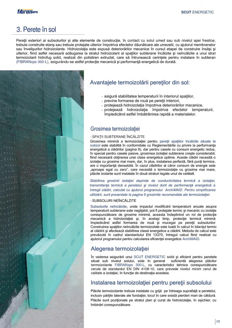 Pagina 8 - Izolarea termica a constructiilor subterane FIBRANxps 300-L, 400-L, 500-L, 600-L, 700-L, ...