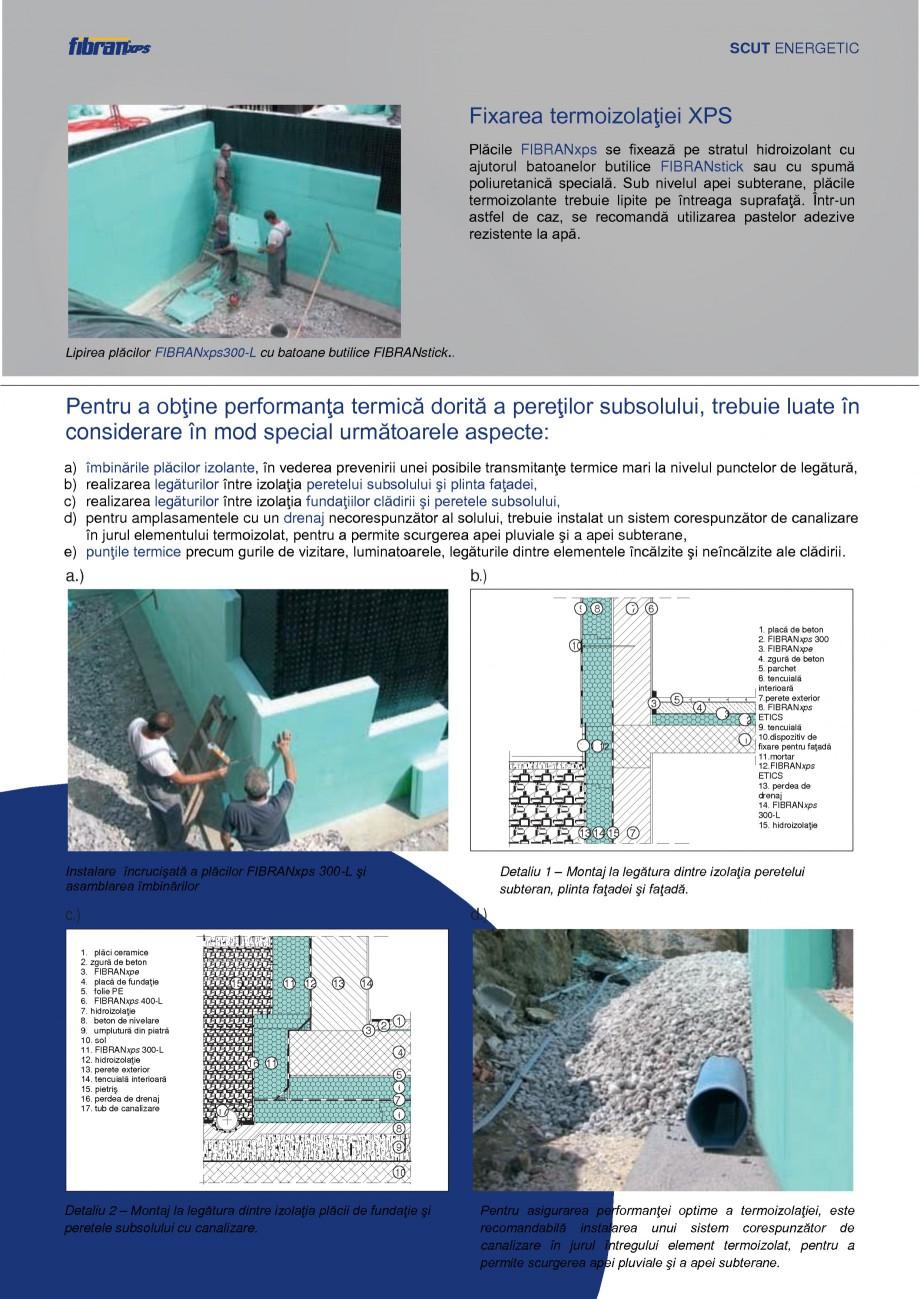 Pagina 9 - Izolarea termica a constructiilor subterane FIBRANxps 300-L, 400-L, 500-L, 600-L, 700-L, ...