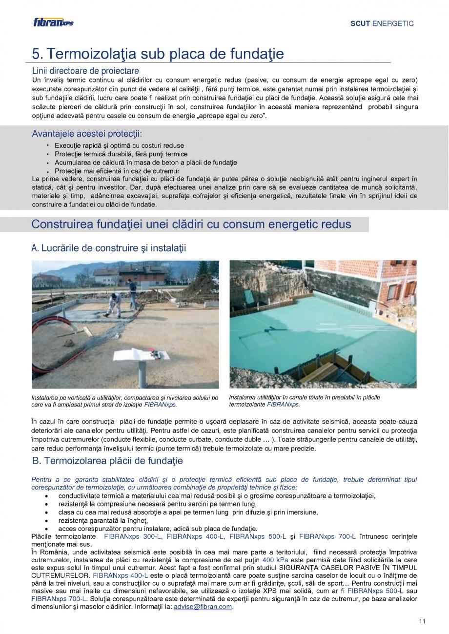 Pagina 14 - Izolarea termica a constructiilor subterane FIBRANxps 300-L, 400-L, 500-L, 600-L, 700-L,...