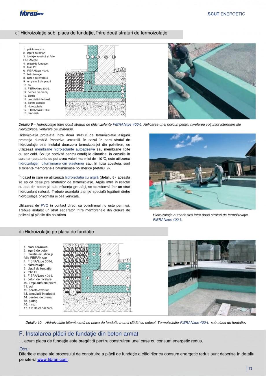 Pagina 16 - Izolarea termica a constructiilor subterane FIBRANxps 300-L, 400-L, 500-L, 600-L, 700-L,...