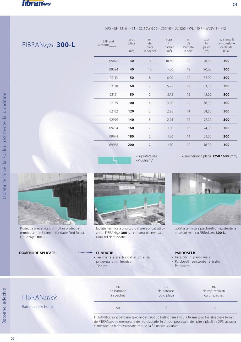 Pagina 4 - Izolatii cu polistiren extrudat FIBRANxps FIBRANxps 300-L, 400-L, 500-L, 600-L, 700-L,...