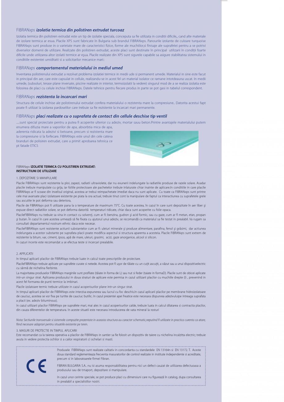 Pagina 12 - Izolatii cu polistiren extrudat FIBRANxps FIBRANxps 300-L, 400-L, 500-L, 600-L, 700-L,...