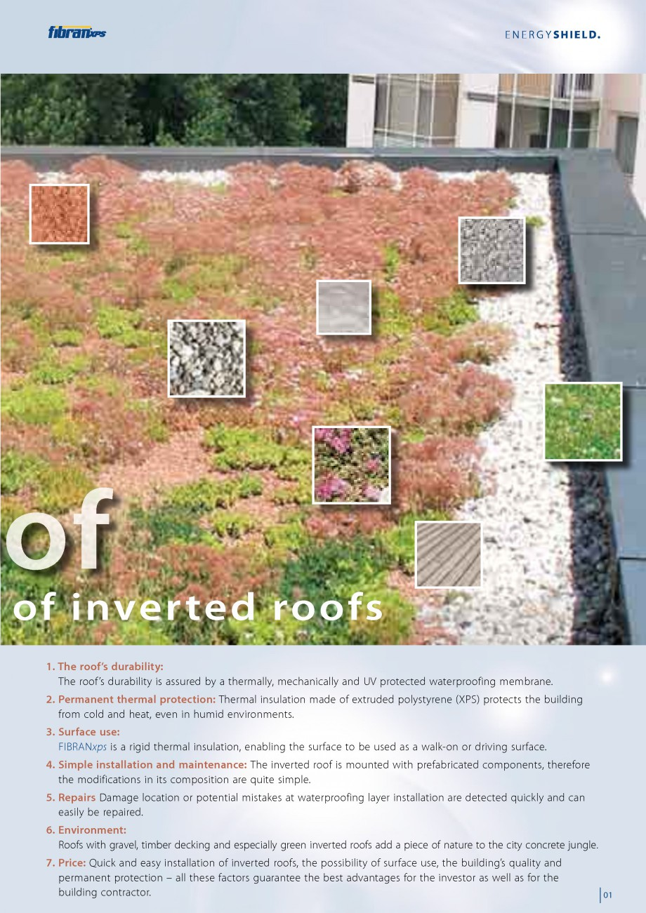 Pagina 3 - Izolarea termica a acoperisurilor plane inversate FIBRANxps 300-L, 400-L, 500-L, 600-L,...