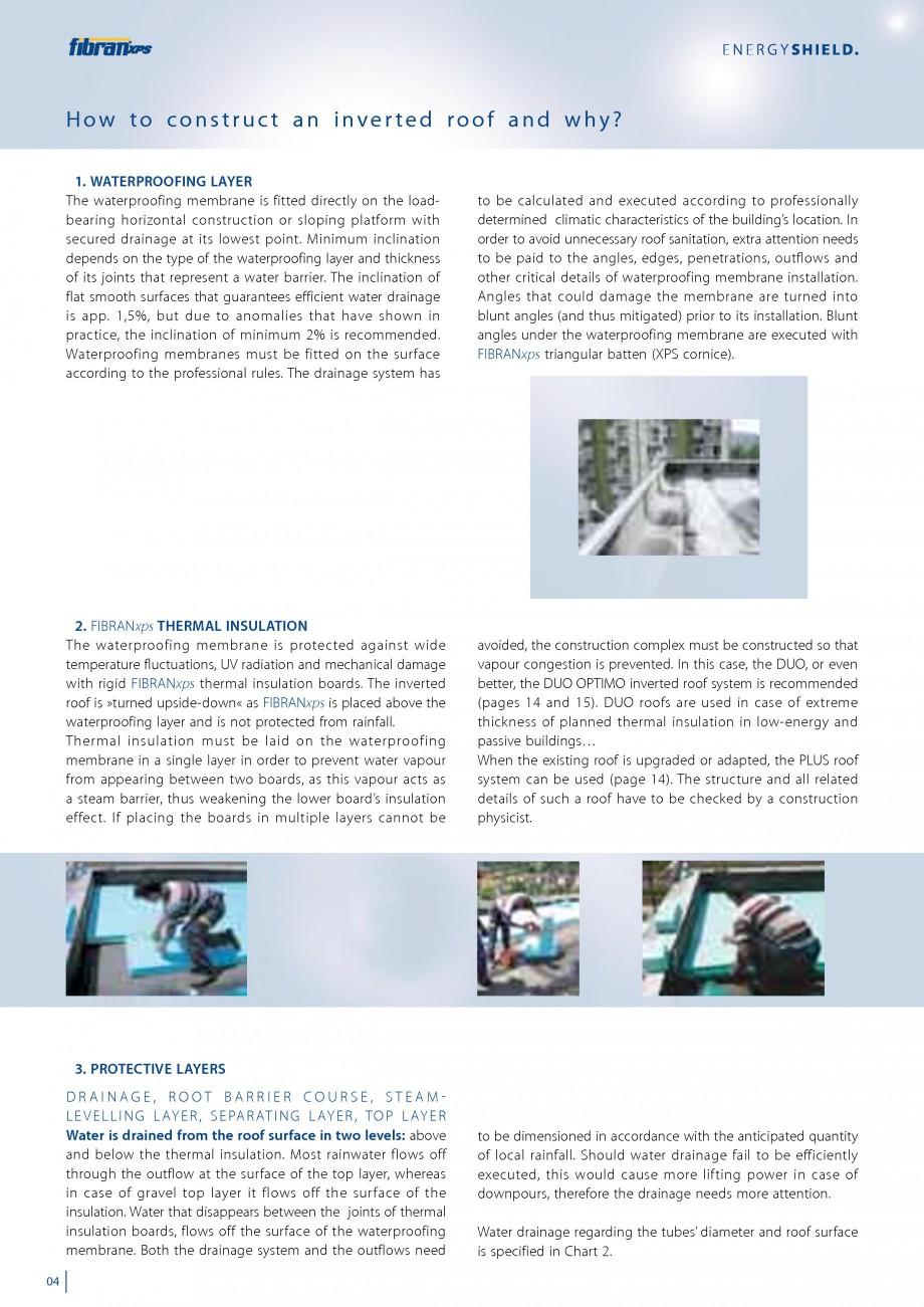 Pagina 6 - Izolarea termica a acoperisurilor plane inversate FIBRANxps 300-L, 400-L, 500-L, 600-L,...