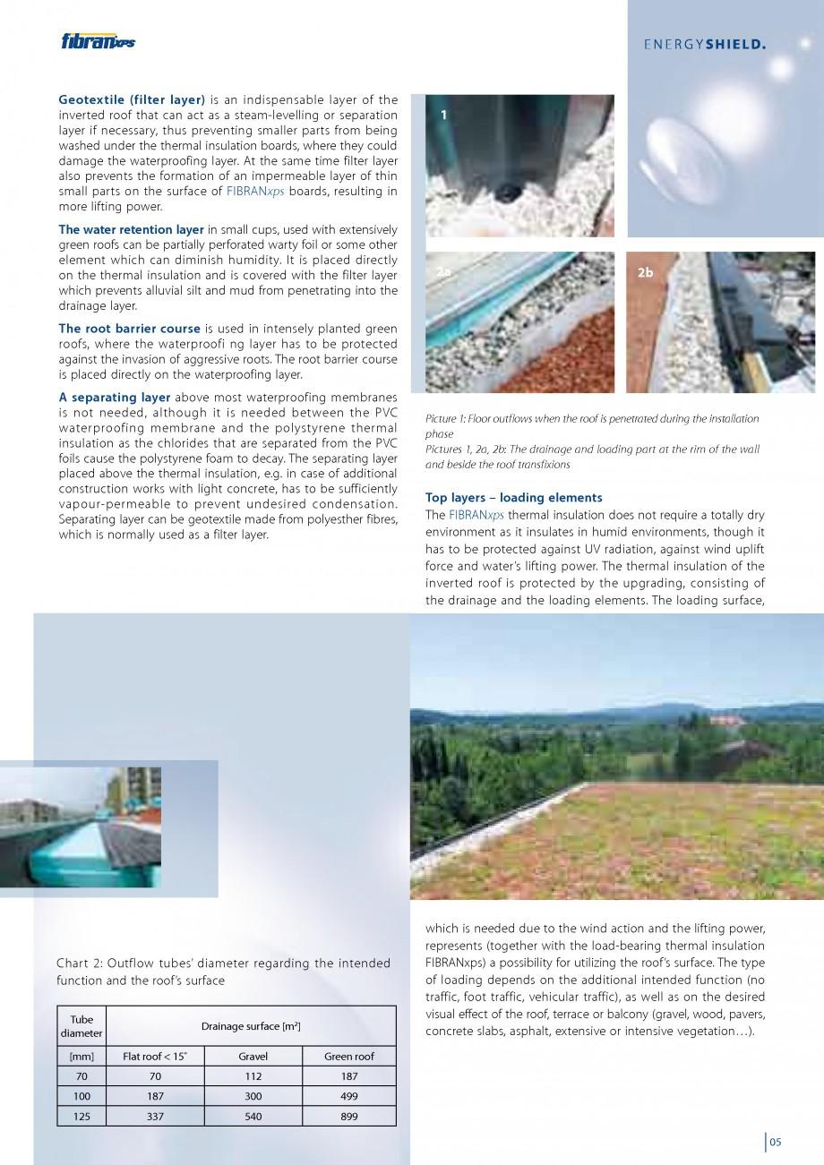 Pagina 7 - Izolarea termica a acoperisurilor plane inversate FIBRANxps 300-L, 400-L, 500-L, 600-L,...