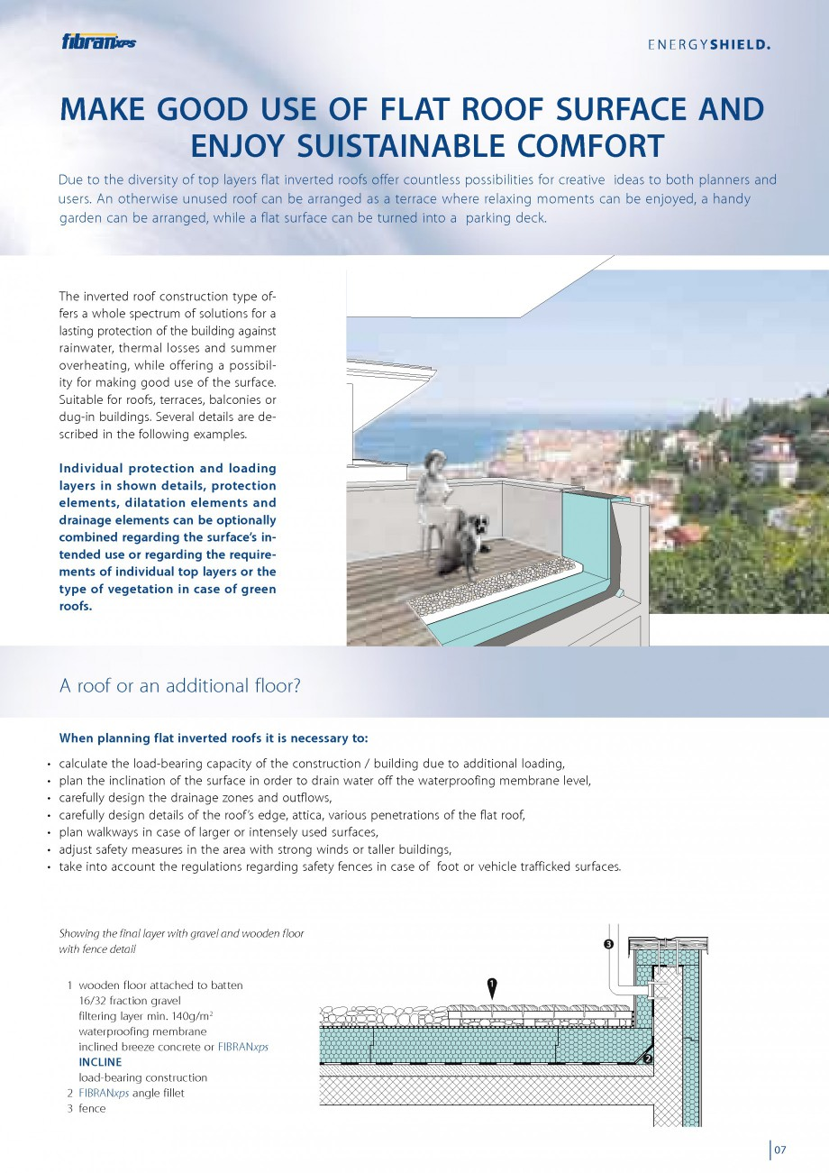 Pagina 9 - Izolarea termica a acoperisurilor plane inversate FIBRANxps 300-L, 400-L, 500-L, 600-L,...