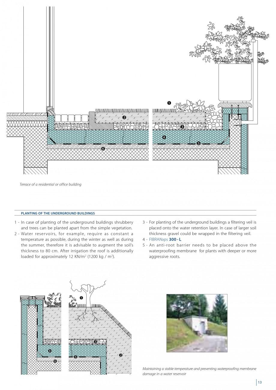 Pagina 15 - Izolarea termica a acoperisurilor plane inversate FIBRANxps 300-L, 400-L, 500-L, 600-L, ...