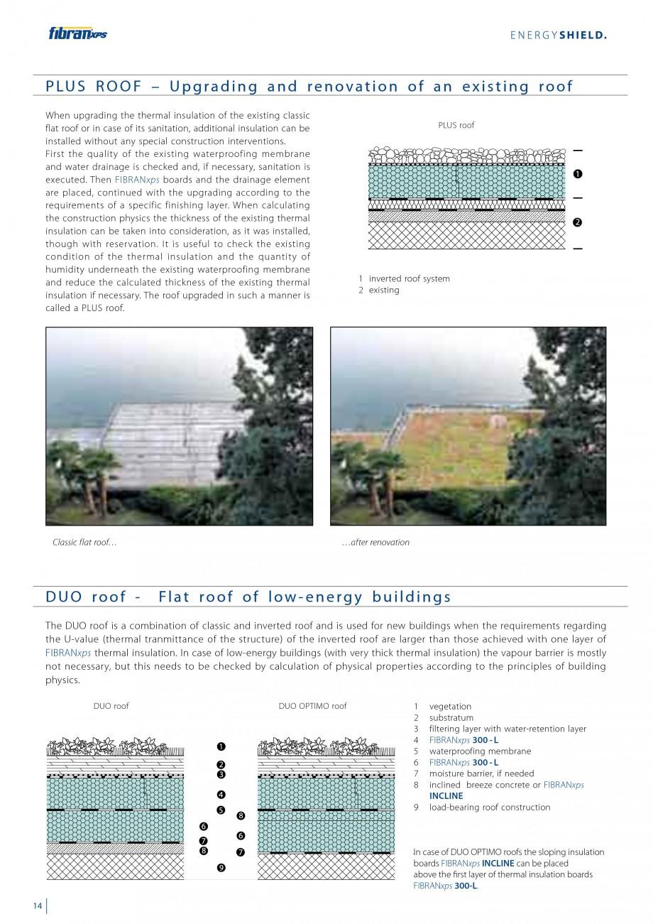 Pagina 16 - Izolarea termica a acoperisurilor plane inversate FIBRANxps 300-L, 400-L, 500-L, 600-L, ...