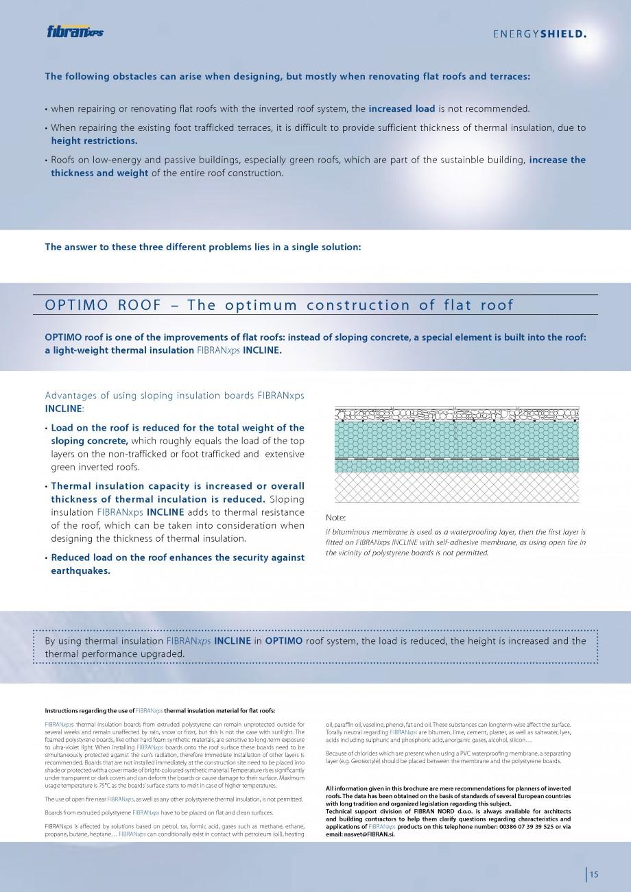 Pagina 17 - Izolarea termica a acoperisurilor plane inversate FIBRANxps 300-L, 400-L, 500-L, 600-L, ...