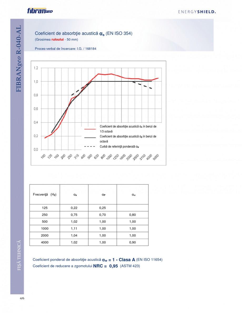 Pagina 4 - Rulouri izolante FIBRANgeo R-040-AL Fisa tehnica Romana bătoare de căldură • Boilere...